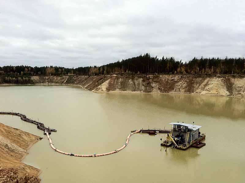 Гидромеханическая добыча песка
