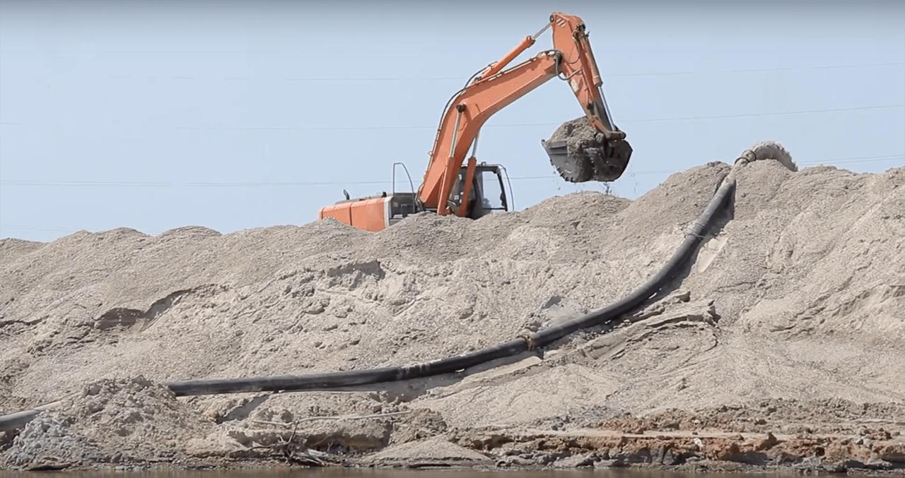 песок морской добыча